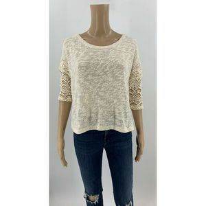 Anthropologie Little Yellow Bird Knit Top Sweater